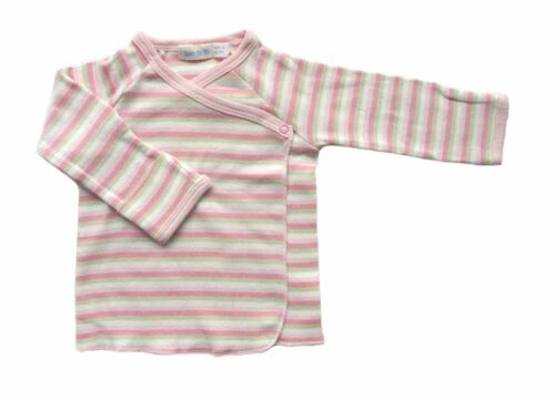 Under The Nile 100/% Organic Cotton Baby Wrap Top Pink Stripe 3-6 M