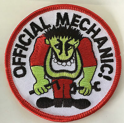 Vintage embroidered cloth patch Official Mechanic D010605