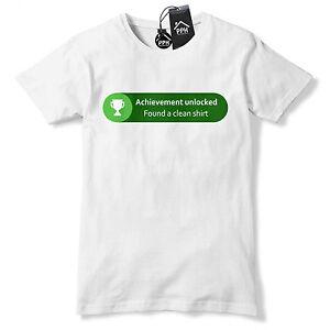 Achievement Unlocked Clean T Shirt Funny Gamer Xbox Gift ...