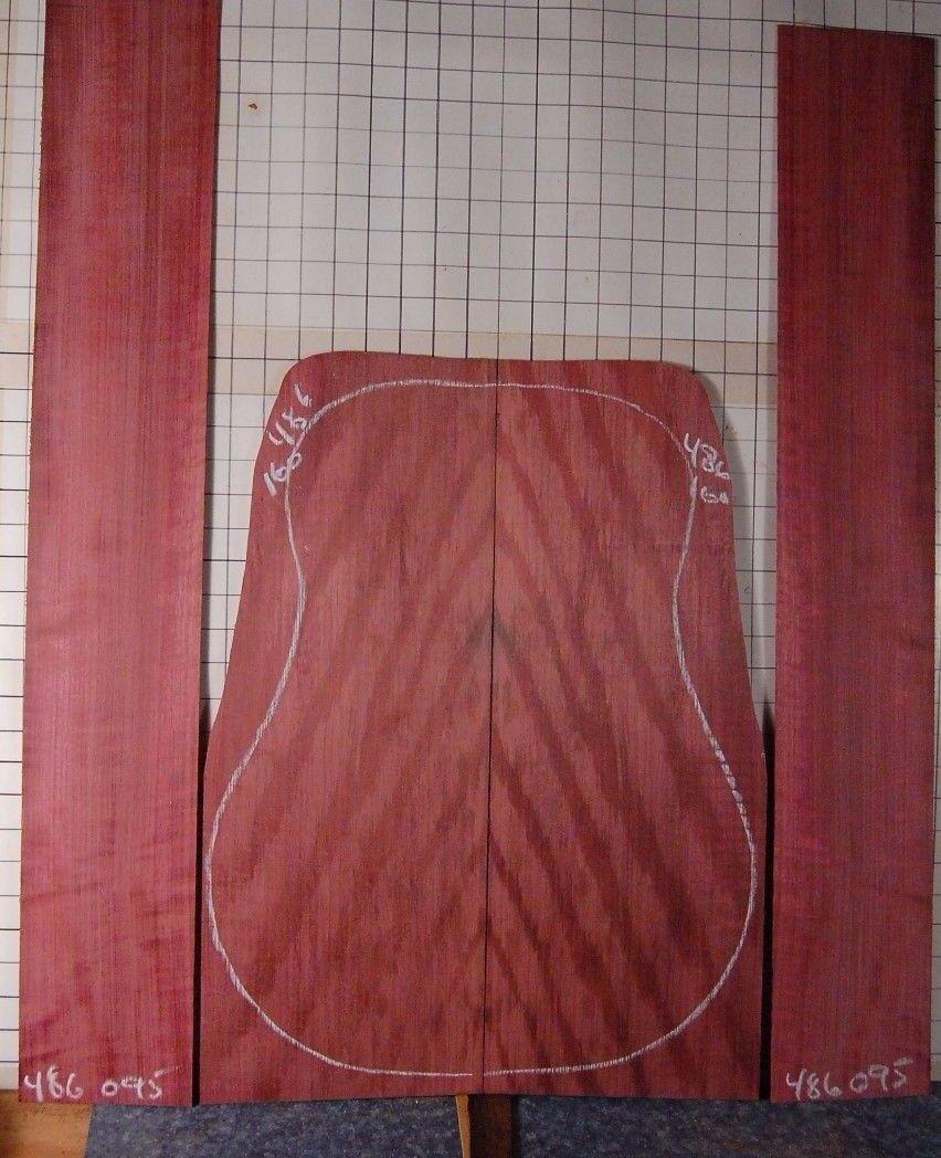 Quarterot figurot lilaheart tonewood guitar luthier set back sides