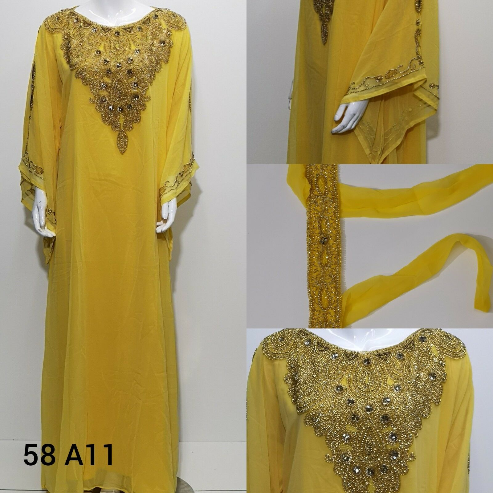 Dubai damen farasha .maxi dress.khaliji  farasha.party dresses..free Größe.new