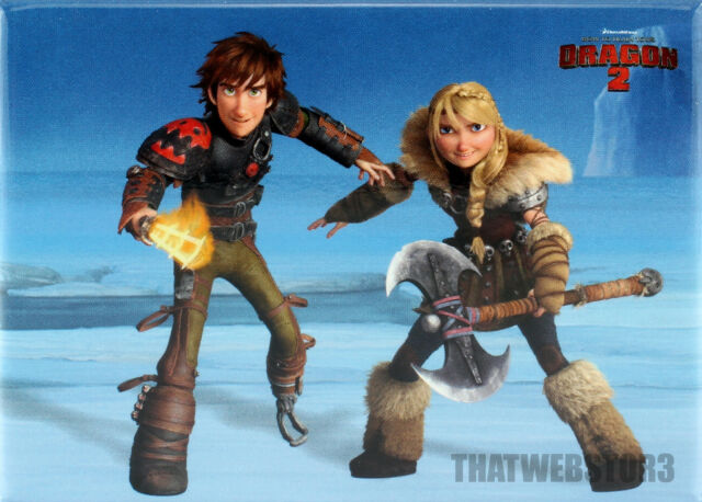 How to train your dragon 2 astrid and hiccup magnet ebay how to train your dragon 2 hiccup and astrid refrigerator magnet licensed ccuart Gallery