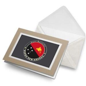 Greetings-Card-Biege-Papua-New-Guinea-Flag-Port-Moresby-5092