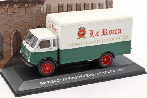 Om Tigrotto Furgone la Rocca Anno 1963 Bianco//Verde 1:43 altaya