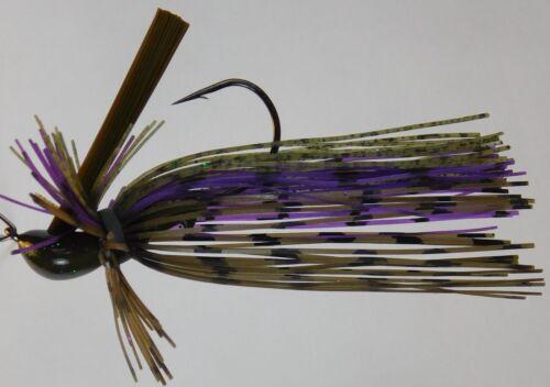 Bob 4 Bass Light Wire 60 Strand Finesse Mop à revêtement DC Arky Jig avec GAMAKATSU Hook
