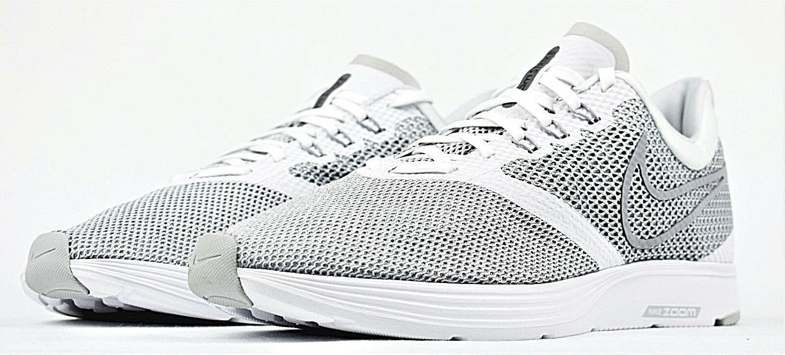 NIKE ZOOM STRIKE NEW IN BOX MEN'S RUNNING SHOES WOLF GREY WHITE REFLECTIVE