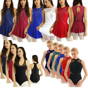 Women-039-s-Sleeveless-Leotard-Ballet-Dance-Dress-Contemporary-Gymnastics-Costume