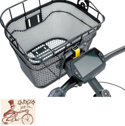 TOPEAK FRONT BLACK BICYCLE BASKET W// FIXER 3 HANDLEBAR BRACKET