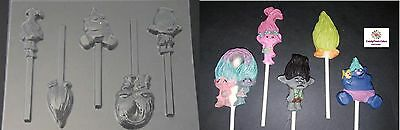 C142 Christmas Candy Cane Lollipop Soap Chocolate Candy Mold