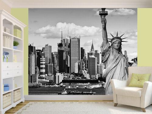 9294285 New York Stadtlandschaft Schwarz und Weiß Fototapete Wandbild