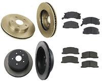 Toyota Previa 91-96 L4 2.4l Complete Brake Kit W/ Rotors & Semi Metallic Pads on Sale