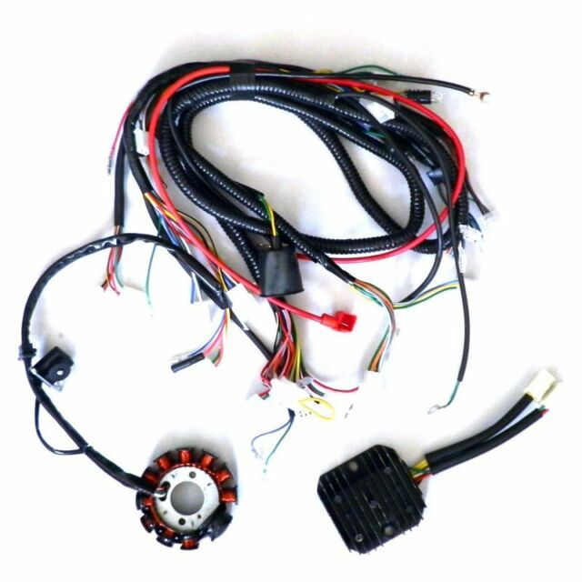 11 pole dc magneto stator regulator wiring harness gy6 150 scooter gy6 150cc wiring harness performance 11 pole dc magneto stator regulator wiring harness gy6 150 scooter