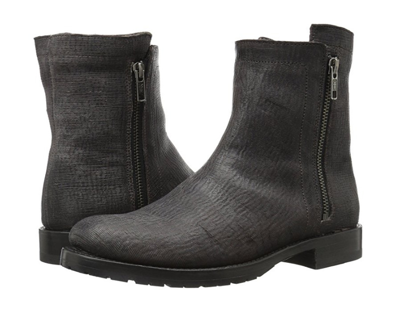 New in Box FRYE 78490 Womens Natalie Double Zip Boot Charcoal Size 7 MSRP  328