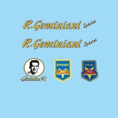 Raphael Geminiani Special Bicycle Decals Transfers Stickers n.20