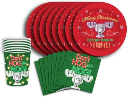 National Lampoons Christmas Vacation 60 Piece Party Tableware SetCups