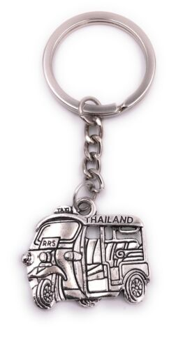 Thailand Mofa Taxi Schlüsselanhänger Anhänger Silber aus Metall