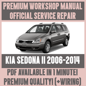 workshop manual service repair guide for kia sedona ii 2006 2014 rh ebay co uk 2010 Kia Sedona 2008 Kia Sorento