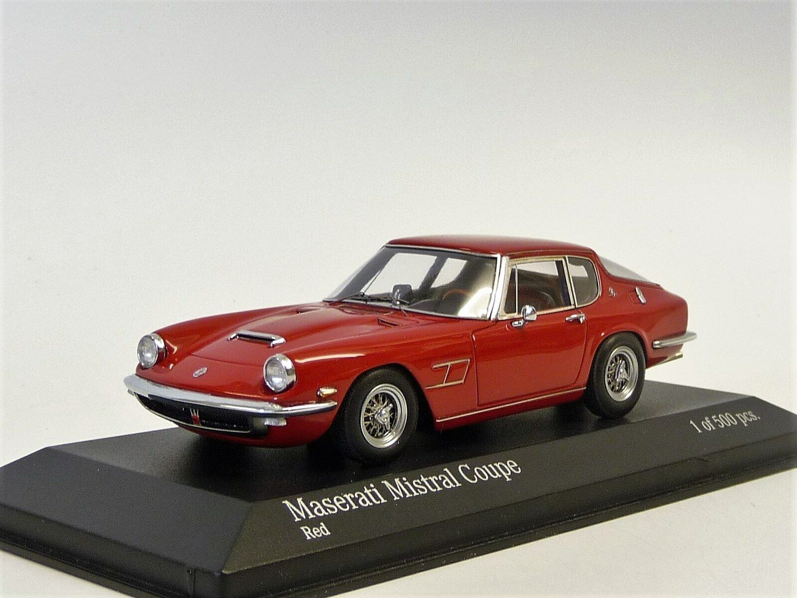 Maserati Mistral coupè rosso Minichamps 400123424 nuevo en OVP 1 43