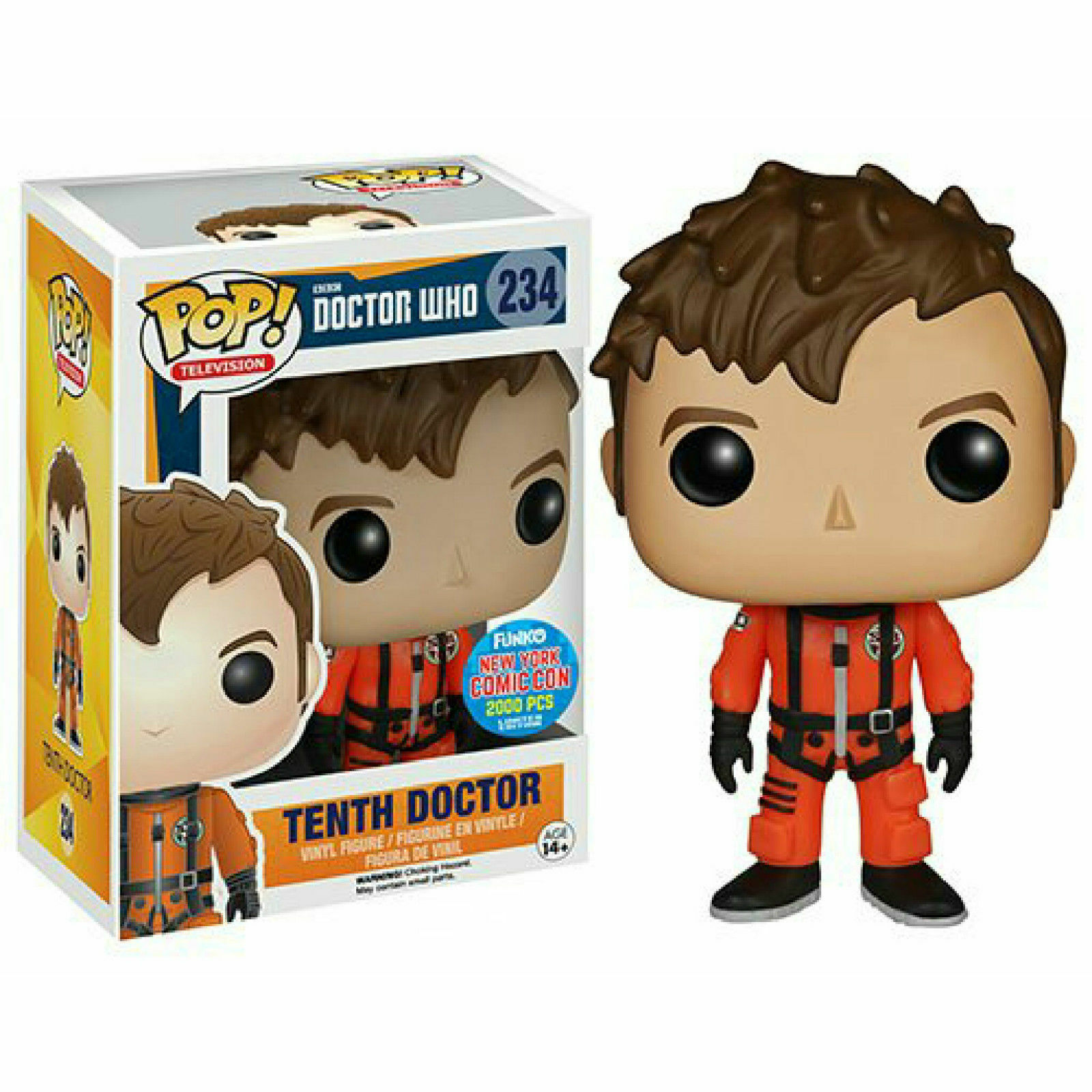 Funko Pop - Doctor Who Tenth Doctor in Spacesuit NYCC Exclusive - NEW NEUF