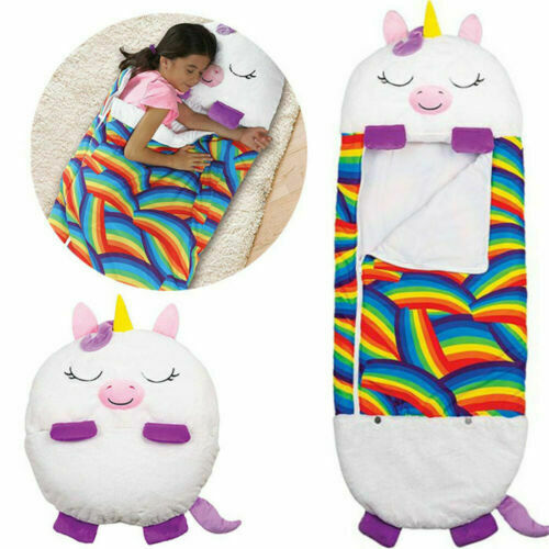 Happy Nappers Sleeping Bag Kids Boys Girls Play Pillow Unicorn Xmas Cute Gift UK
