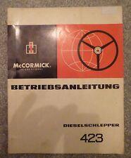 IHC Schlepper 423 Betriebsanleitung