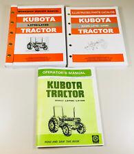Kubota L3750 L4150 Tractor Service Parts Operators Manual Catalog Repair Shop