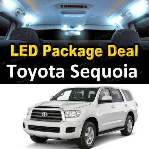 For 2001 2002 2003 Toyota Sequoia LED Lights Interior Package Kit WHITE 17PCS