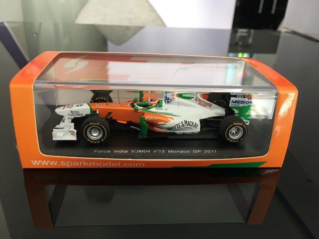 Spark 1 43 Force India VJM04 N° 15 Monaco GP 2011 Paul Di Resta
