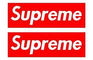 Supreme # 10 - 8 X 10 - T Shirt Iron On Transfer - 2 Pack ( 2 Per