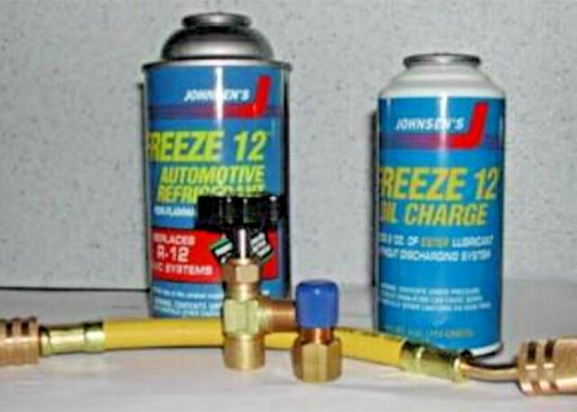 Freeze 12 Refrigerant R Ac Recharge Kit Oil Charge Hose Low Side Ing