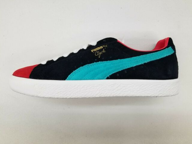 the latest b29cc ed006 PUMA CLYDE FROM THE ARCHIVE BLACK RED TEAL WHITE MENS SIZE SNEAKERS  365319-03