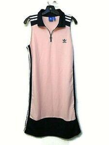 Details about Adidas women's jersey dress size L (UK 18) Pink