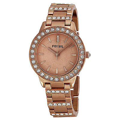 Fossil Jesse Crystal Rose Gold-tone Stainless Steel Ladies Watch ES3020
