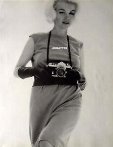 Vintage Marilyn Monroe w/ Nikon Camera Rare 2-Sided Pinup Photography Poster Art