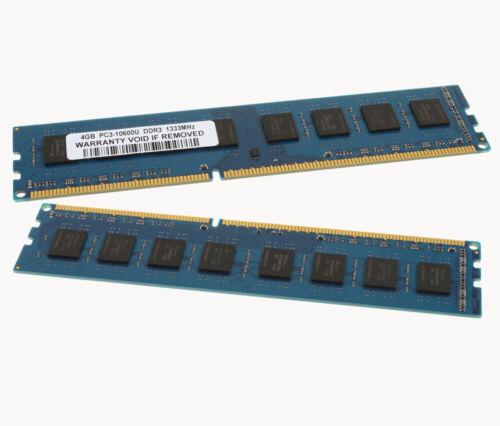8GB 2X 4GB PC3-10600U DDR3 1333MHz Desktop For Dell Optiplex 780 790 390 580 990