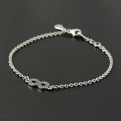 Authentic Genuine Pandora Silver Symbol of Infinity Bracelet 16cm - 590509CZ-16