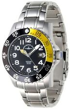 Zeno-Watch Basel Swiss Made Airplane Diver II 6350Q-a1-9M Ronda Saphir 50 ATM