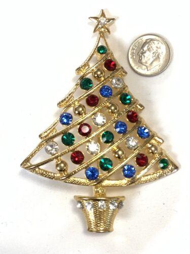 #J1081 Eisenberg Ice Signed Christmas Candy Cane Pin