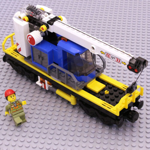 Lego Genuine City Cargo Freight Train Crane Wagon Trailer Railway from 60198 NEW