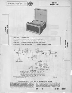 Image Is Loading 1957 ZENITH YP7L RECORD PLAYER PHONOGRAPH SERVICE MANUAL