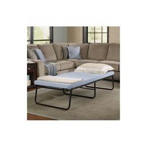 portable folding bed guest sleeper memory foam mattress fold away hideaway beds ebay. Black Bedroom Furniture Sets. Home Design Ideas