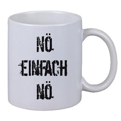 """Kaffee Tasse """"Nö Einfach Nö"""" Nein Arbeit Büro Geschenk Chef Kollege Weihnachten"""