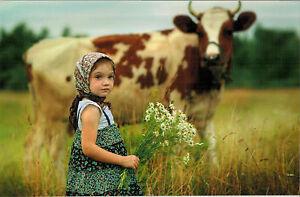 children /' modern Rare new unposted postcard by Katerina Polkovnikova CIB