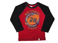 Boys T-Shirts 100% Cotton Kids Designer Printed Long Sleeve Junior Tops Age 2-10