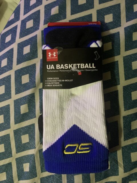Lavar ventanas compensar electrodo  Under armour Drive Curry Basketball Crew Men's Socks, Size L - White/Yellow  for sale online | eBay