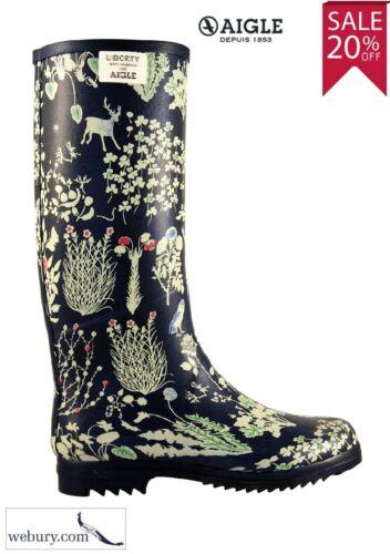 Aigle Femme Chantelib-édition limitée Marine Liberty Imprimer Wellington Boots