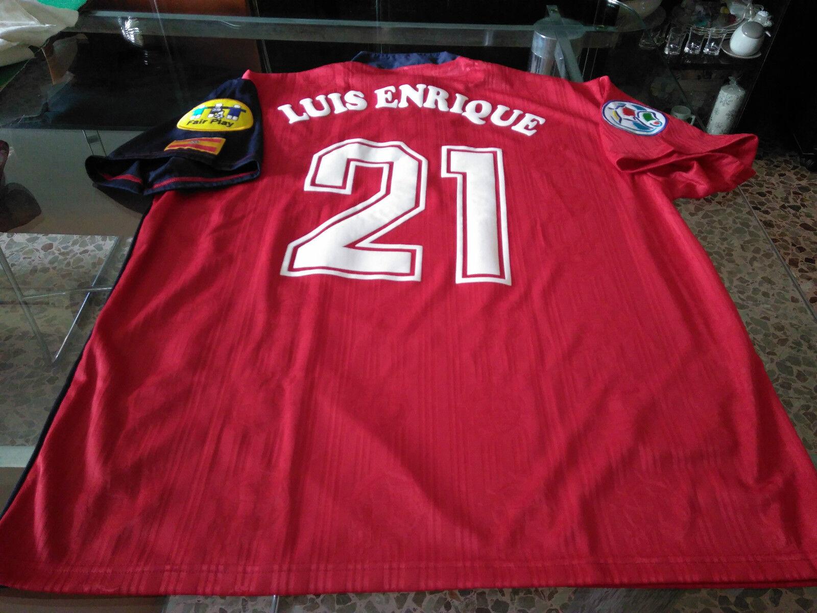 Maglia Luis Enrique Spagna Spain EURO 96 Shirt Jersey Camiseta