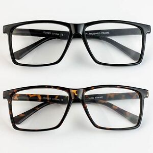 Large Frame Wayfarer Glasses : Large Oversized Wayfarer Glasses READING Clear Lens Thin ...