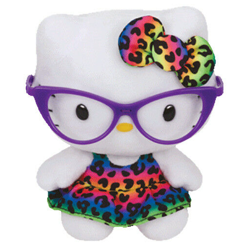 Ty Beanie Babies - Hello Kitty Rainbow Fashionista - Small 6 Beanies Plush