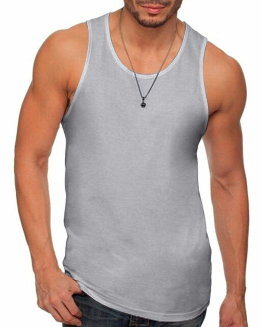 3fea9f2c1bf09 Next Level Apparel 3633 Mens Premium Jersey Tank Heather Gray 2xl
